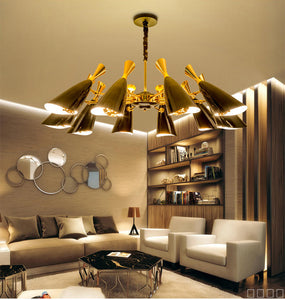 Modern LED suspension light fixture black white Aluminum decoration for interior home hotel  PL161 - IdeaHome24 - Home Decor ideahome24.com