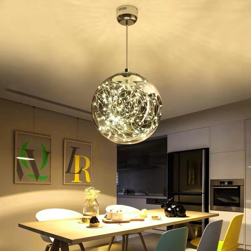 Smoke gray color glass LED twinkle-start ceiling light PL495 - IdeaHome24 - Home Decor ideahome24.com