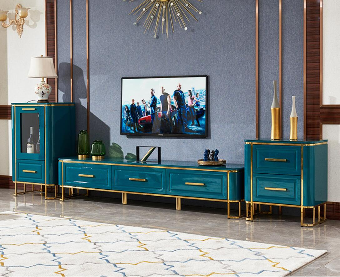 -40% Discount Emerald Royal green TV-Rack and Sofa table-- Cairo Emerald Blue - IdeaHome24 - Home Decor ideahome24.com