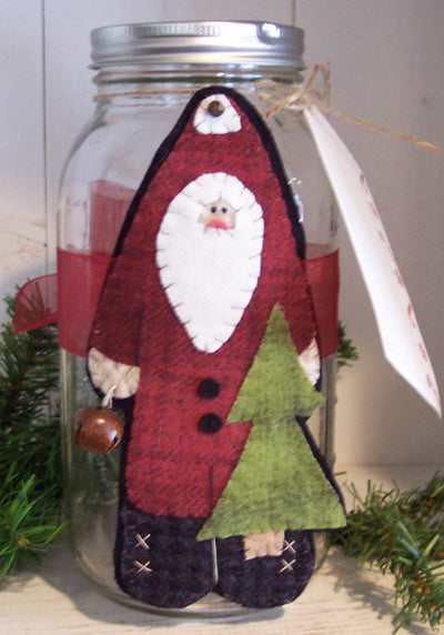 As the Crow Flies Santa Jar Cozy