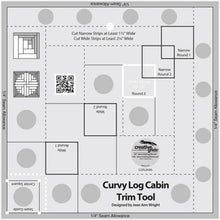 Load image into Gallery viewer, Curvy Log Cabin Trim Tool 8""