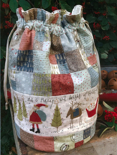 Hatched and Patched All is Merry and Bright Market Bag