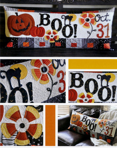 Kimberbell Halloween Boo! Bench Pillow