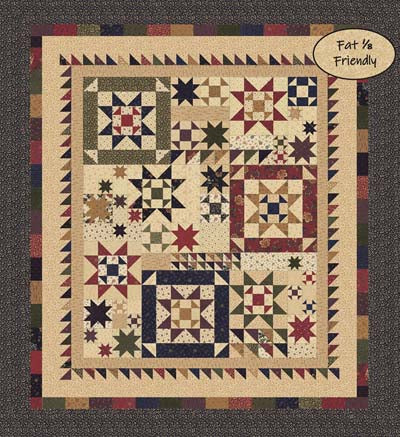 Kansas Troubles Quilters Star Cluster