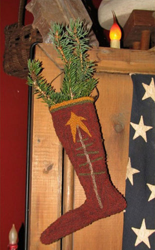 Old Tattered Flag Elf Stocking