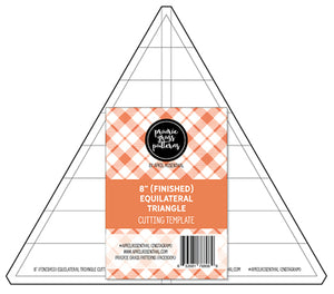 "8"" Equilateral Triangle Acrylic Template"