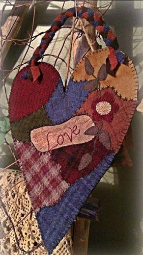 Rustic Country Handcrafts Crazy Love Punch Needle