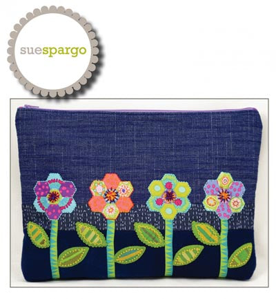 Sue Spargo  Zinnia Zip Bag