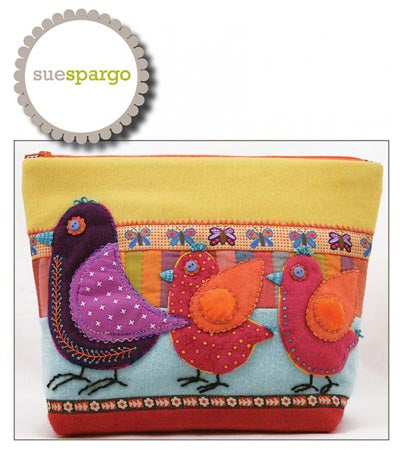 Sue Spargo  Birds on Parade Sac