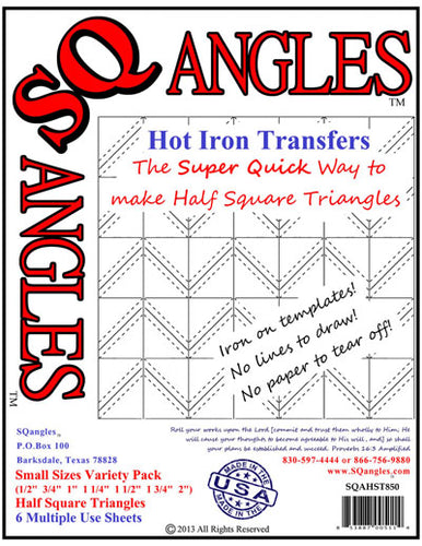 Sqangles Hot Iron Transfers-SM