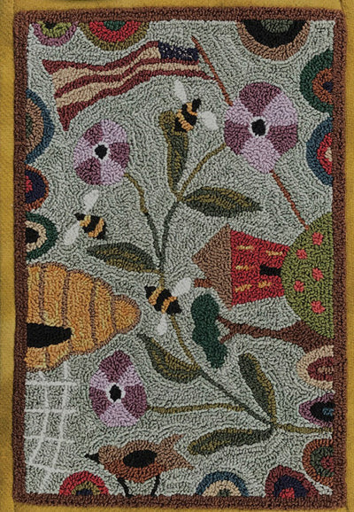 Threads That Bind Bee Grateful Punchneedle Embroidery