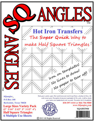 Sqangles Hot Iron Transfers-LG