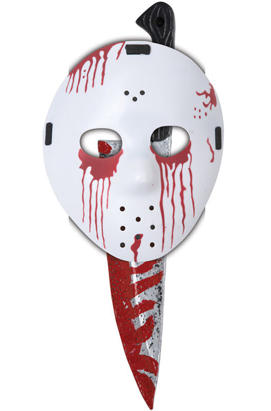 Slasher Hockey Mask and Knife