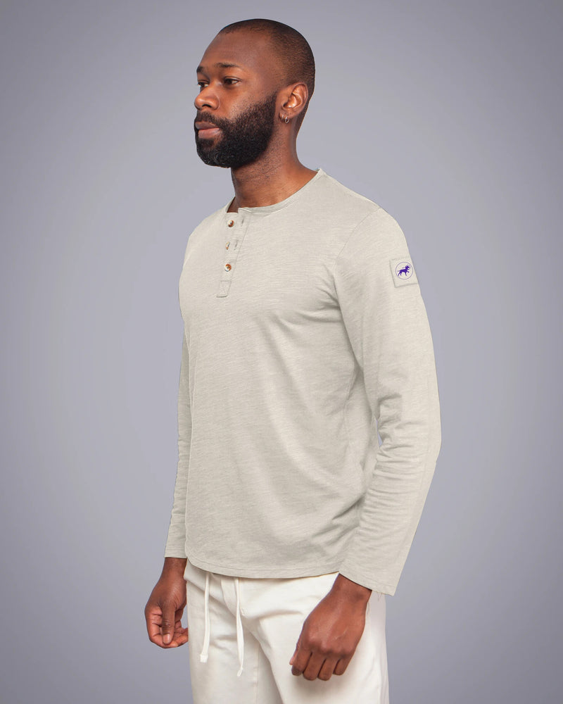 Orbit Long Sleeve Henley Sandy Moon