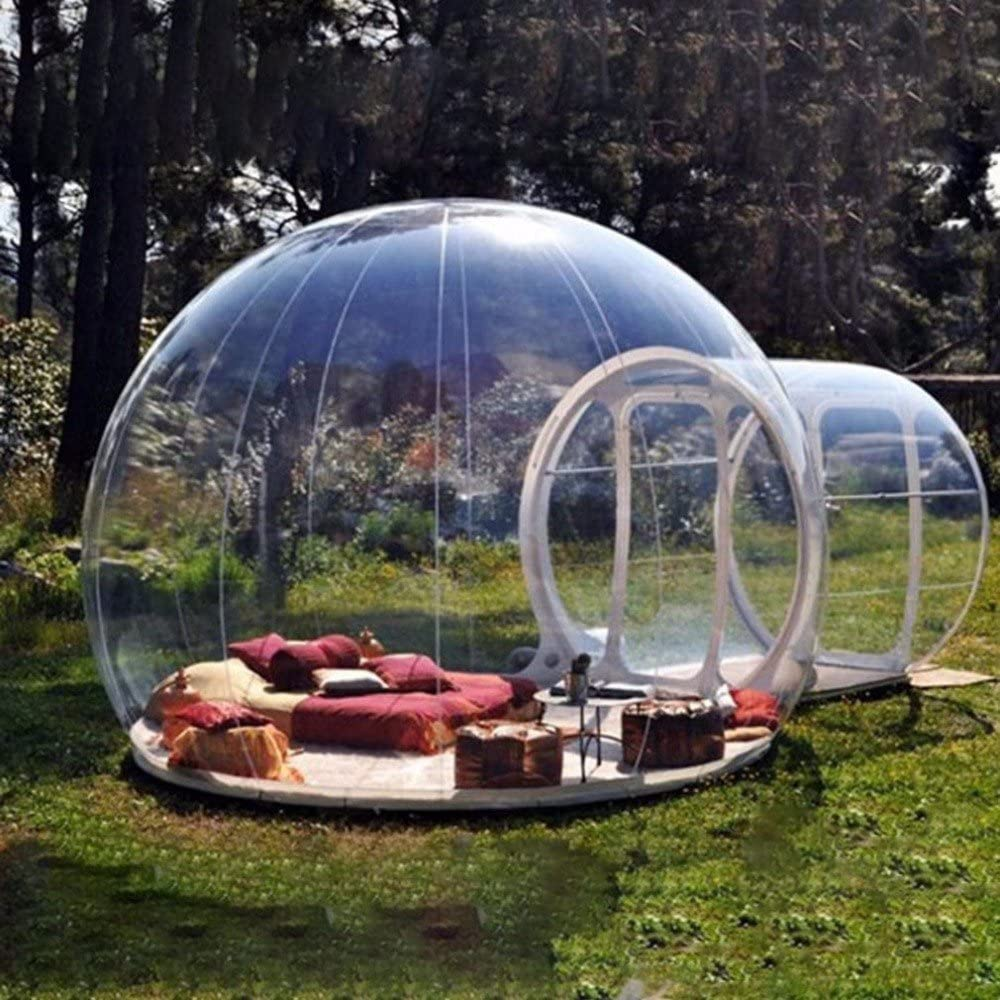 HHAiNi Outdoor Transparent Single Tunnel Inflatable Bubble Tent