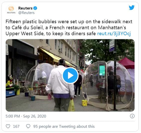 Huge Plastic Dining Bubbles And Other Winter Restaurant Trends Are Coming