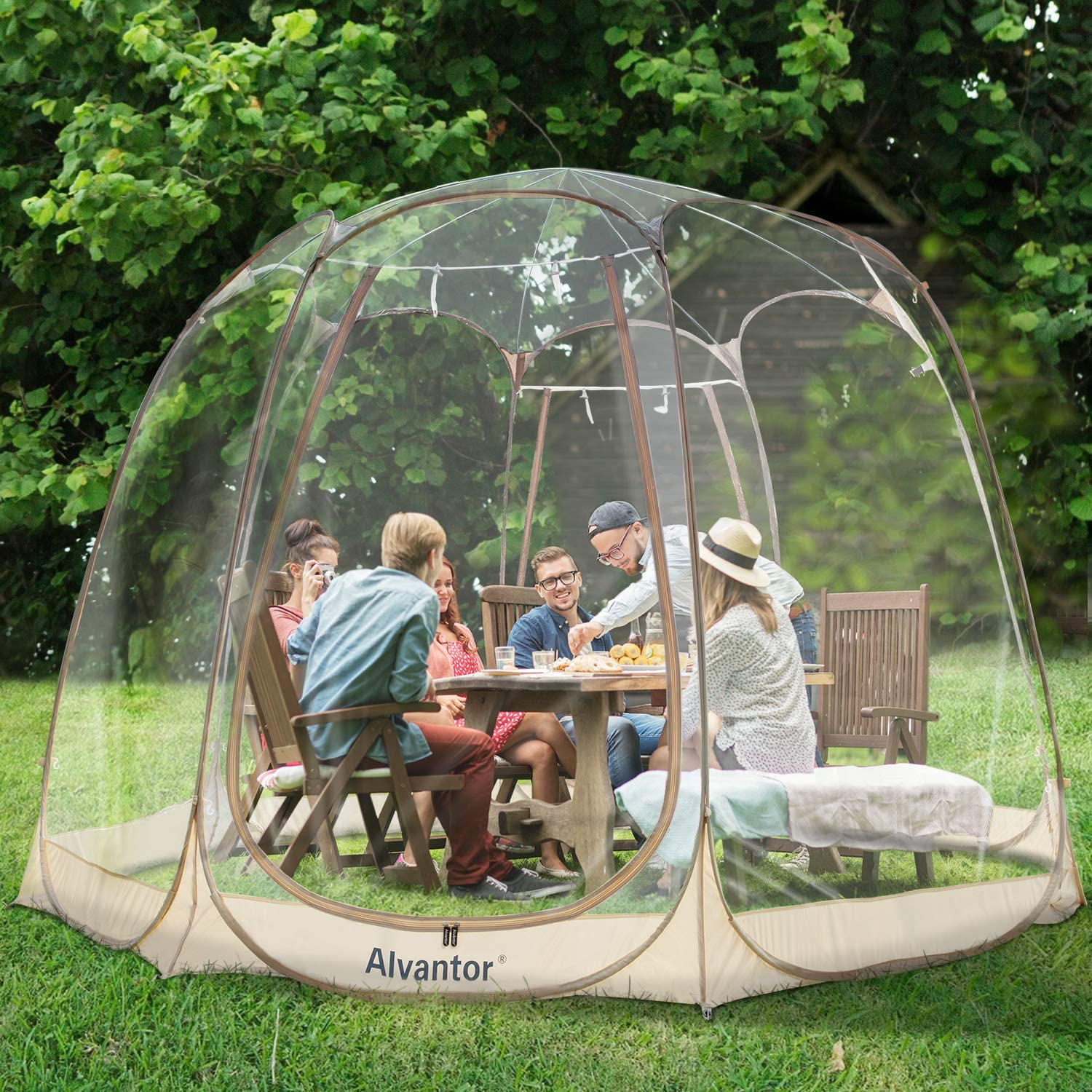 Alvantor 10' * 10' Pop-up Gazebo/ Bubble Tent for 4-6 Person