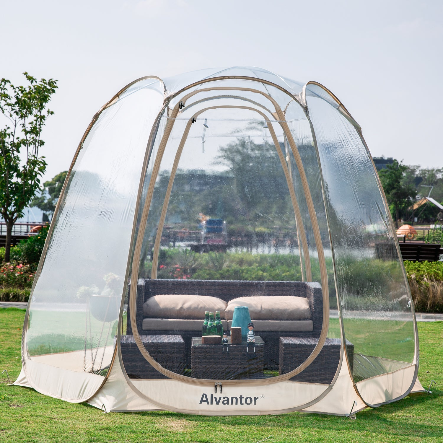 Alvantor 15'* 15' Winter Garden Gazebo/ Portable Pop-Up Bubble Tent for 12-15 Person