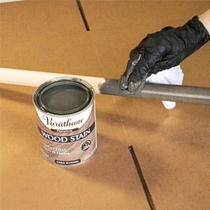 wood stain application