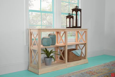 diy  unfinished console table