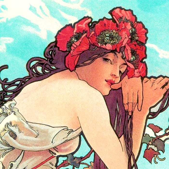 "A Closer Look: Alphonse Mucha's ""Les Saisons"" Lithographs"