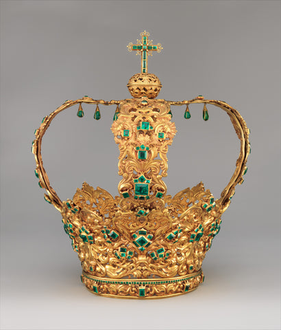 Crown of the Virgin of the Immaculate Conception, known as the Crown of the Andes, currently housed at The Metropolitan Museum of Art in New York City
