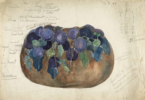 Sketch by Julia Munson, in Enameling, of an Enameled Bowl for Tiffany Studios New York