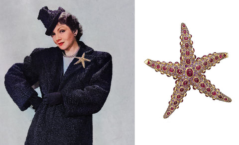 Juliette Moutard's House of Boivin Starfish Brooch, Designed for Claudette Colbert, now at the MFA Boston (1936/7)