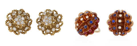 Marianne Ostier Earclip Earrings, Available at Macklowe Gallery