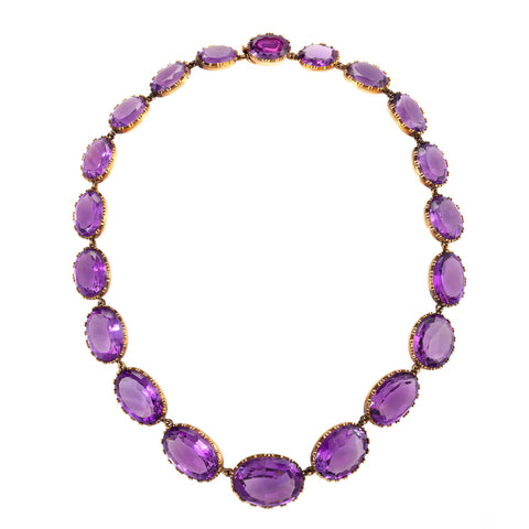 Macklowe Gallery's Amethyst Rivière Necklace and Earrings Suite