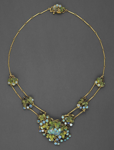 Opal Grapevine Necklace, Louis Comfort Tiffany and Julia Munson, 1904
