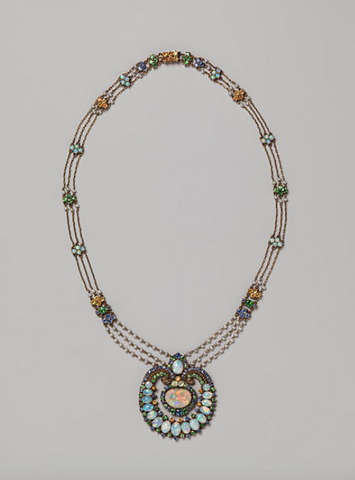 Necklace by Louis Comfort Tiffany and Meta Overbeck