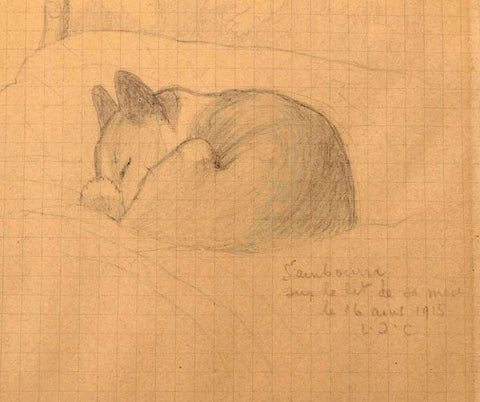 Sketch of Sambourra, 1916, by Louis Cartier (from archive sold by Haynailt, 2018)