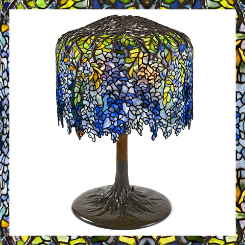 Macklowe Gallery's Tiffany Studios New York Wisteria Lamp, Crafted by Clara Driscoll and the Tiffany Girls