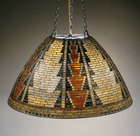 """""""Basket"""" Chandelier, circa 1899, by Louis Comfort Tiffany and Tiffany Studios New York, housed at the Metropolitan Museum of Art in New York City"""