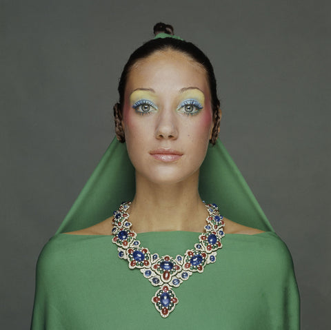 Marisa Berenson in Bulgari Necklace, Shot for Vogue by Gianni Turillazzi, September 1970