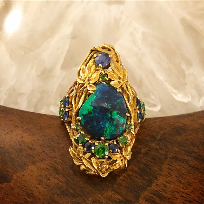 Louis Comfort Tiffany for Tiffany & Co. Black Opal Ring