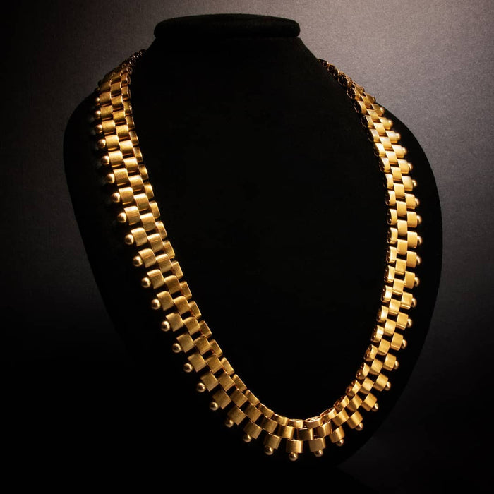 Geometric Gold Link Necklace