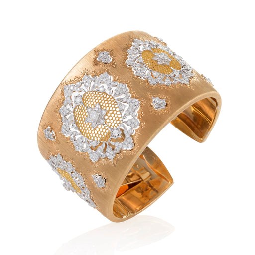 Macklowe Gallery Buccellati Bi-Color Gold and Diamond Cuff