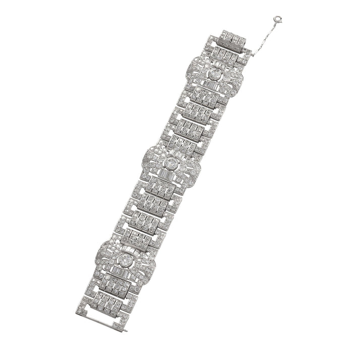 Macklowe Gallery Wide Diamond Plaque Strap Bracelet