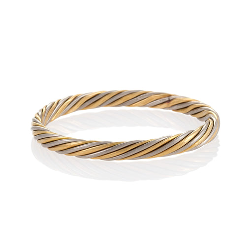 Macklowe Gallery Van Cleef & Arpels Rope Twist Bi-color Gold Bangle