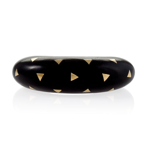 Macklowe Gallery Van Cleef & Arpels Exotic Wood and Gold Inlay Cuff