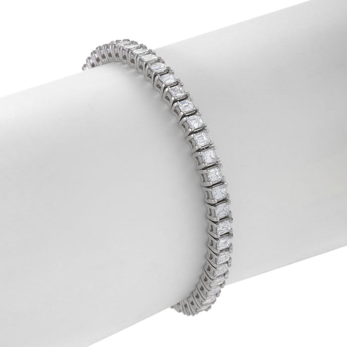 Macklowe Gallery Square-Cut Diamond Line Bracelet