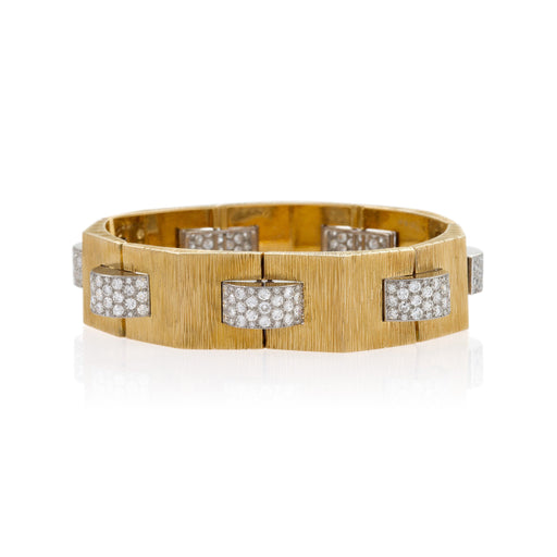 "Macklowe Gallery Cartier Gold and Diamond ""Tank"" Bracelet"