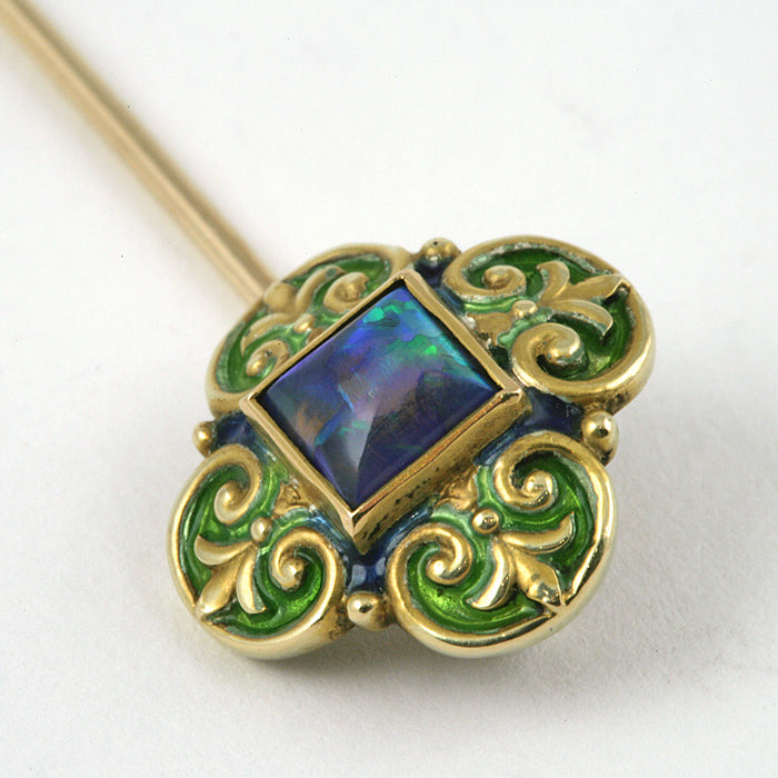 Marcus & Co. Black Opal Stick Pin