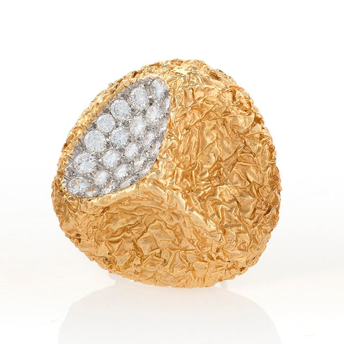 "Van Cleef & Arpels Gold and Diamond ""Crater"" Brooch"
