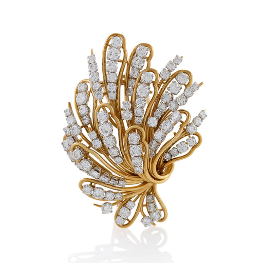 Macklowe Gallery Bulgari Gold and Diamond Bouquet Brooch