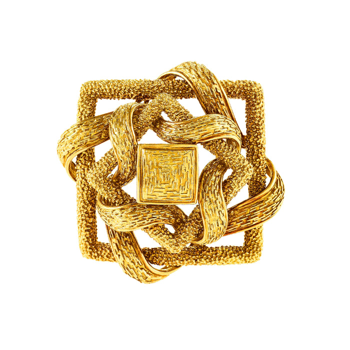 Cartier Gold Knot Brooch