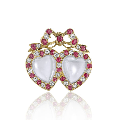Macklowe Gallery Moonstone Sweetheart Brooch