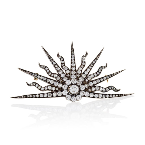 "Macklowe Gallery Diamond ""Rising Sun"" Brooch"